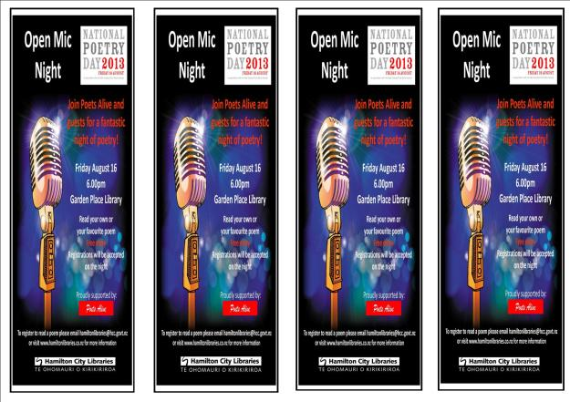 National poetry day bookmarks