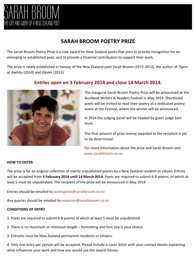 1Sarah Broom Poetry Prize Press Announcement Dec 2013