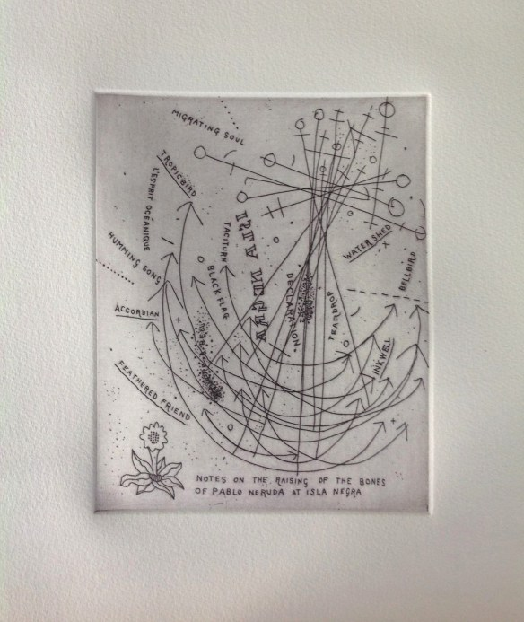 notes-on-the-raising-of-the-bones-of-pablo-neruda-at-isla-negra-gregory-obrien-and-john-reynolds-etching-2014