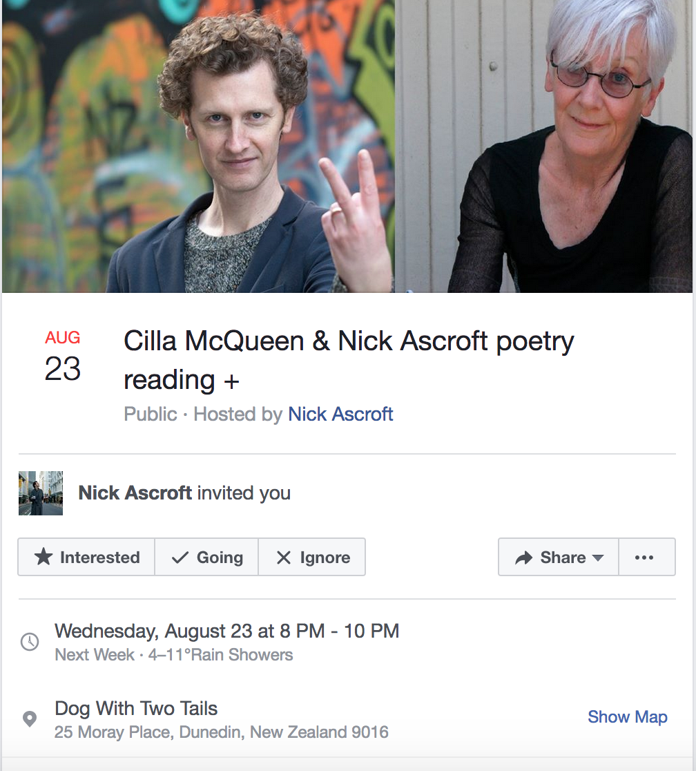 photo relating to Bachelor Bracket Printable Nick named Nick Ascroft NZ Poetry Shelf