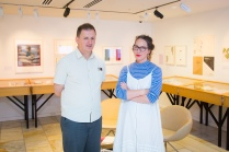 Brendan O'Brien and Hannah Mettner in the Turnbull Gallery.